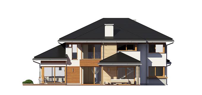 Dom z widokiem - odbicie lustrzane