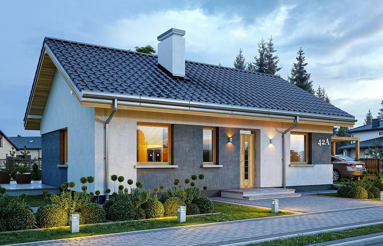 Projekt domu Kasia 2 - wizualizacja frontu