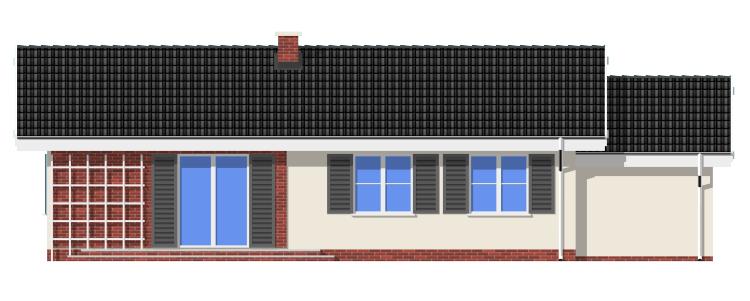 Słoneczny z garażem - odbicie lustrzane