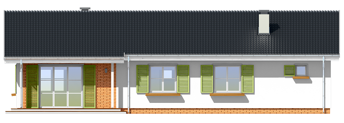 Słoneczny z garażem 2 - odbicie lustrzane