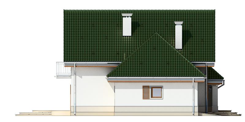 Dom w brzozach - odbicie lustrzane