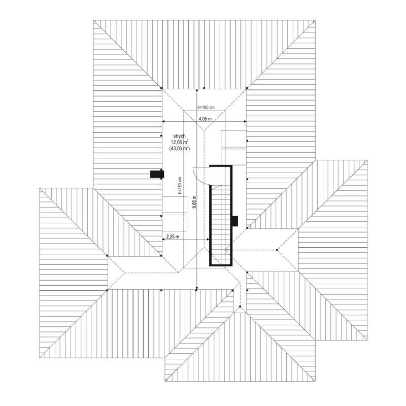 Dom na miarę 2 - rzut strychu
