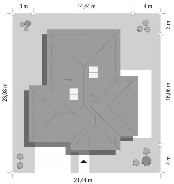 Dom na miarę 2 - sytuacja odbicie lustrzane