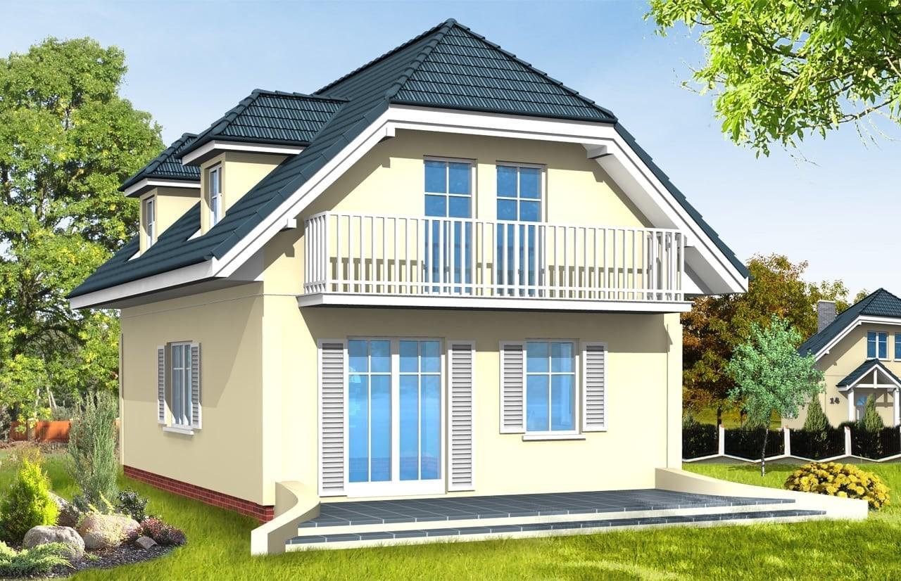 Projekt domu Adaś - wizualizacja tylna