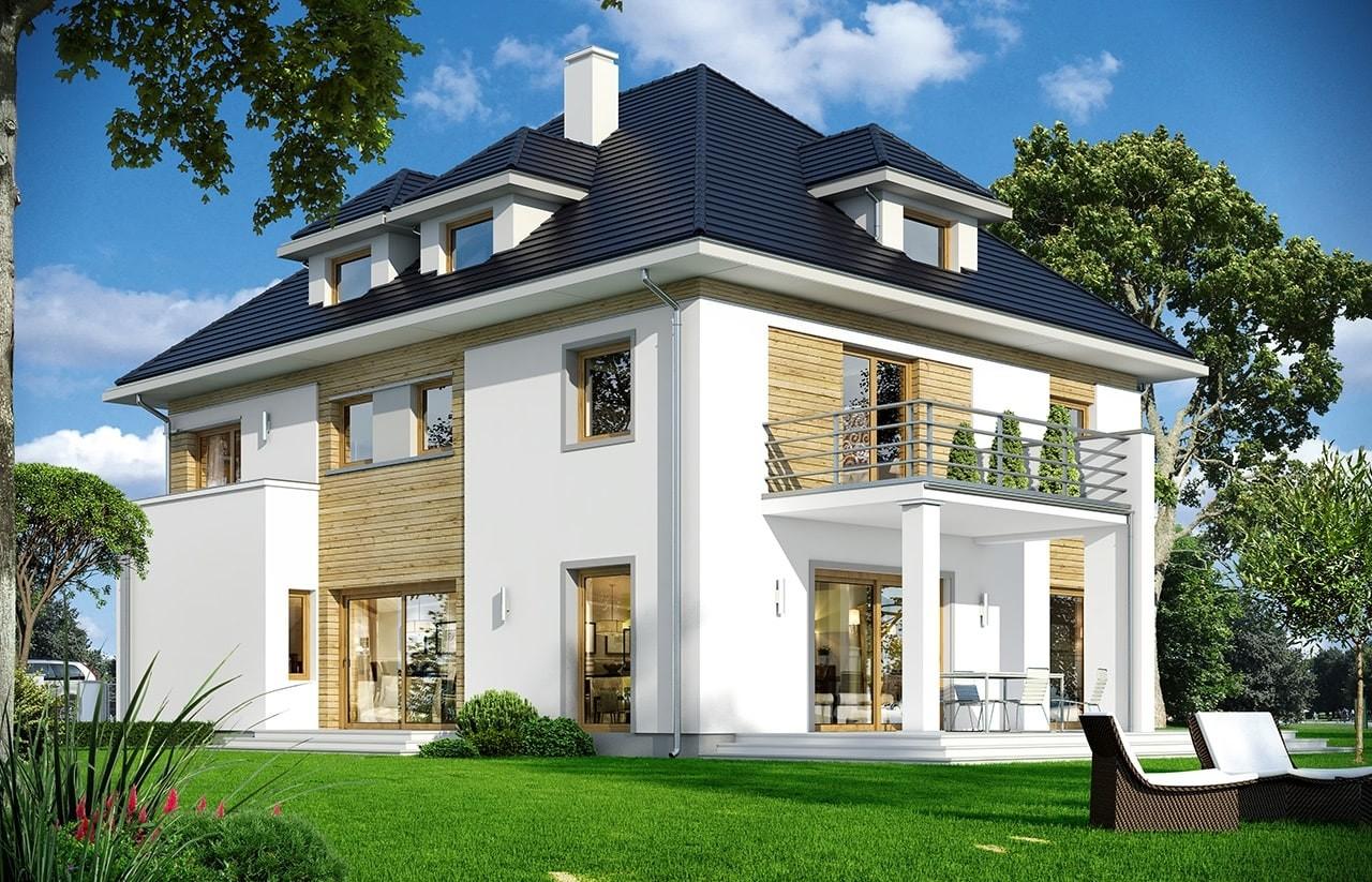 Projekt domu Agat 2 - wizualizacja tylna