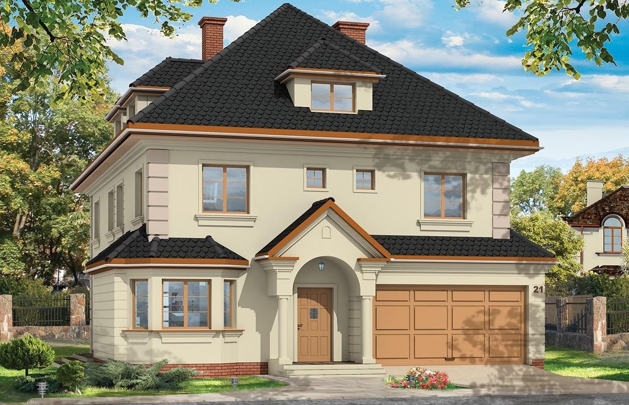 Projekt domu Agat - wizualizacja frontowa