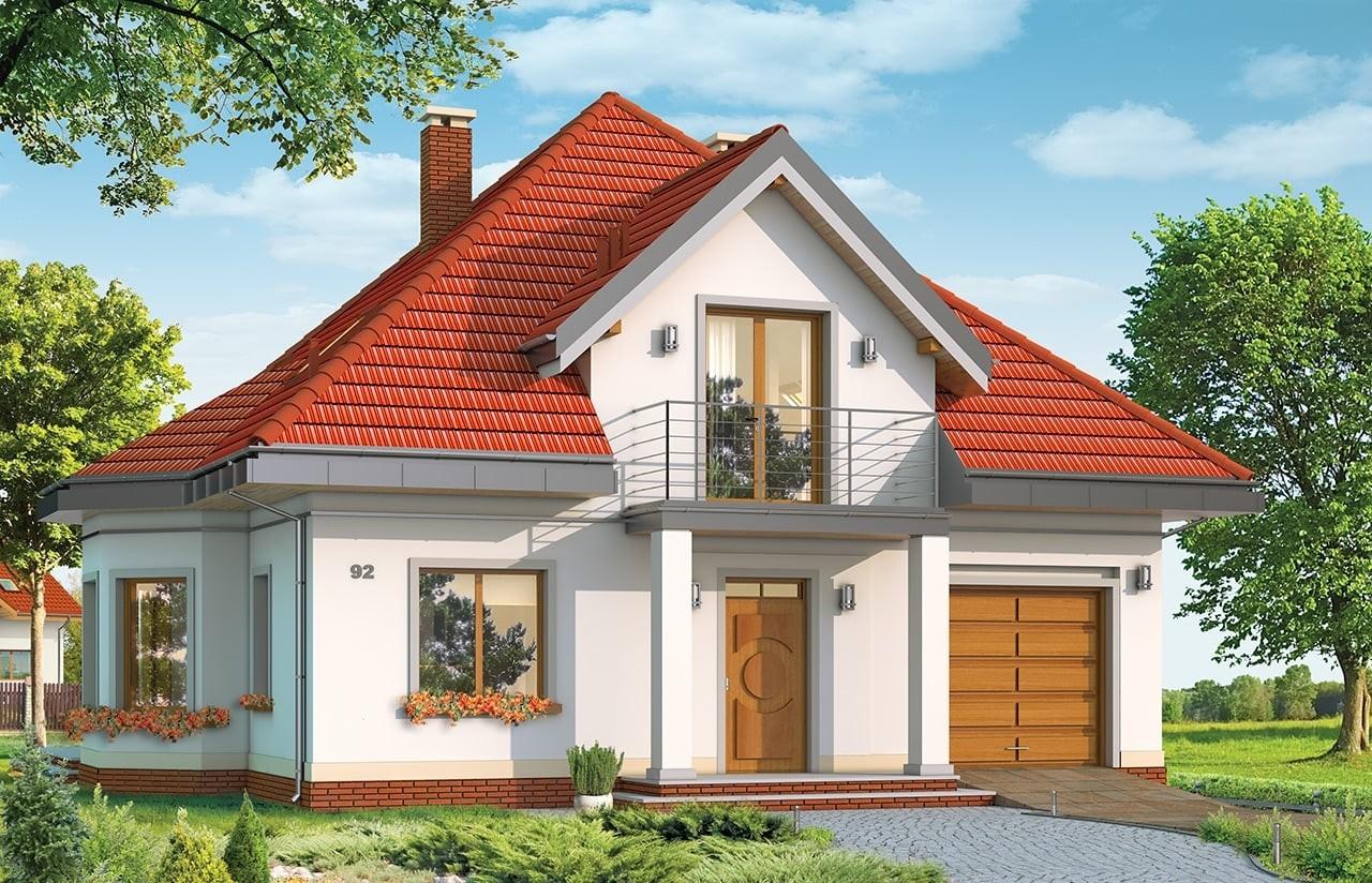 Projekt domu Agatka - wizualizacja frontowa