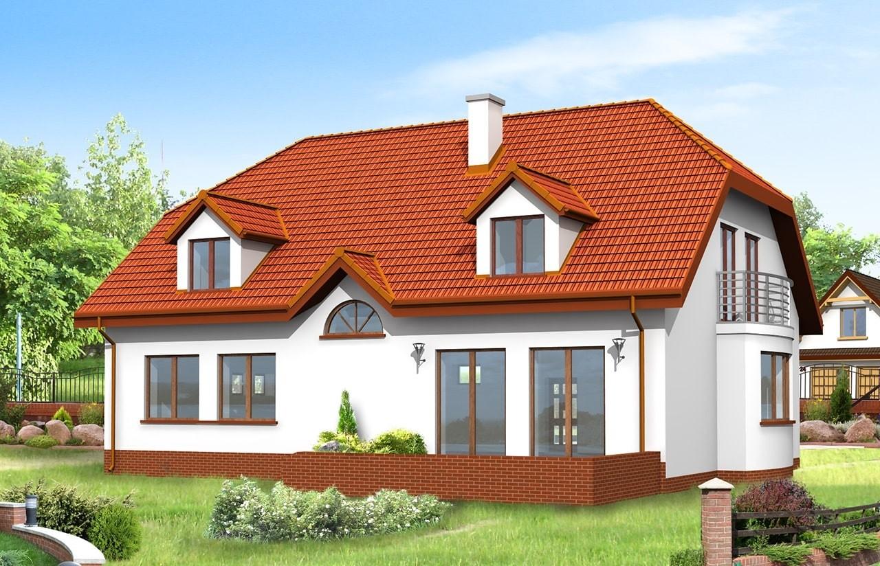 Projekt domu Akacjowy - wizualizacja tylna