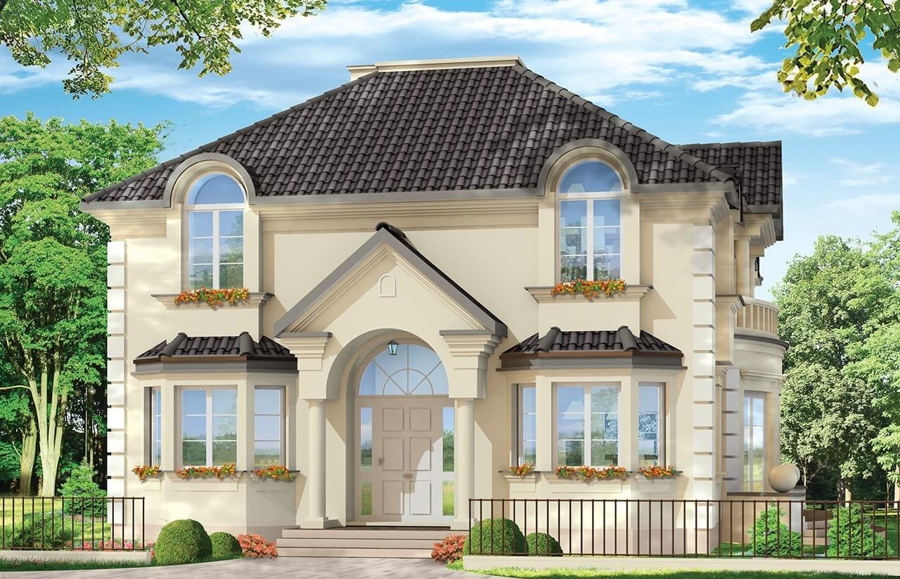 Projekt domu Ambasador 3 - wizualizacja frontowa