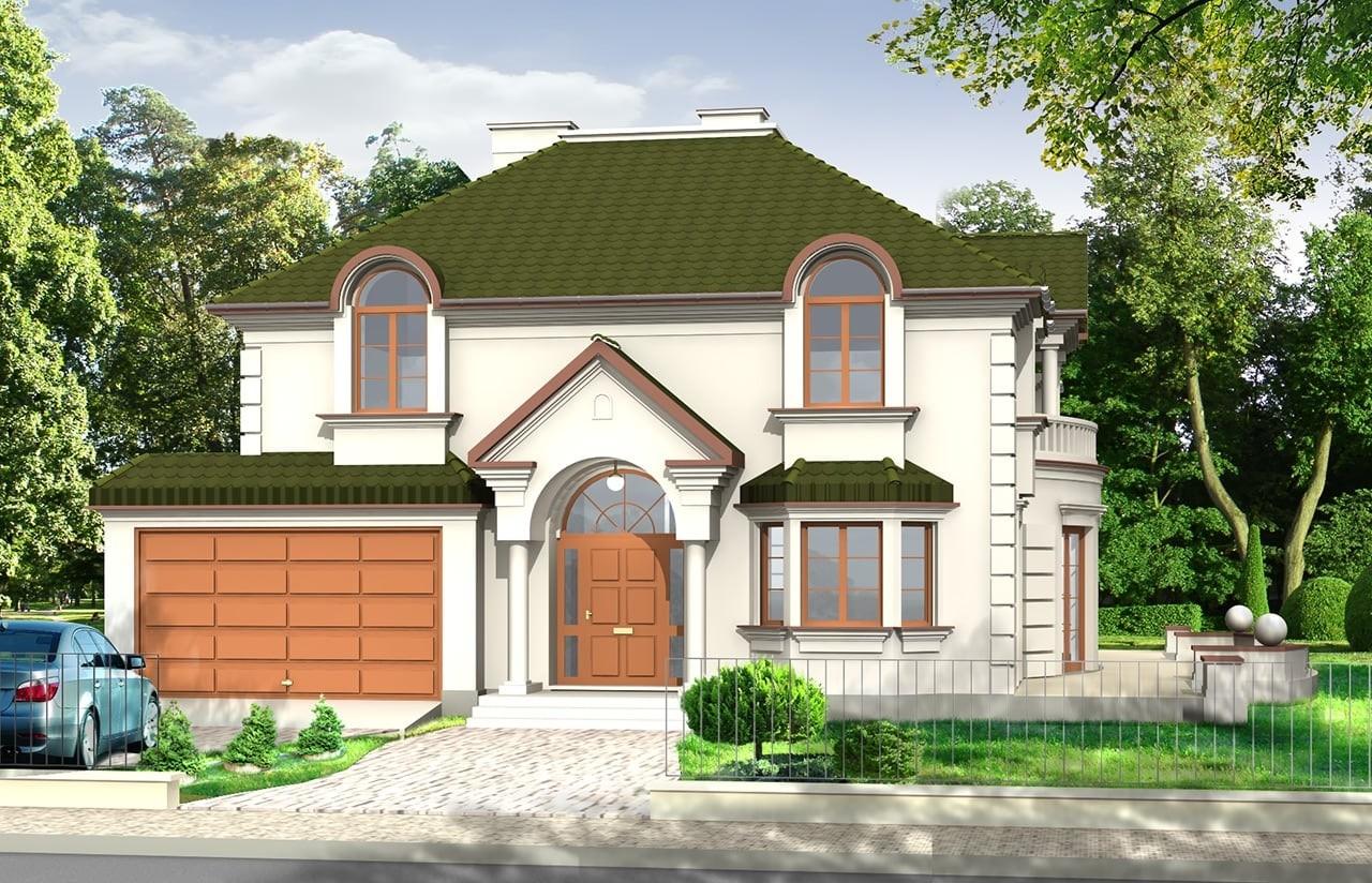 Projekt domu Ambasador - wizualizacja frontowa