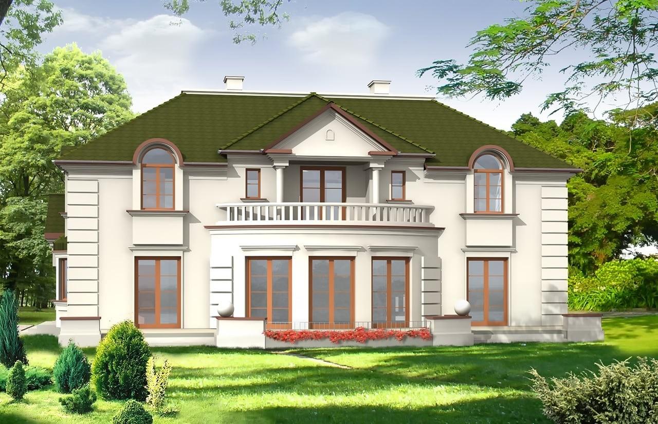 Projekt domu Ambasador - wizualizacja tylna