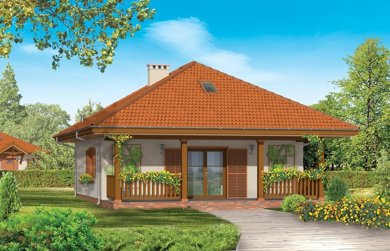 Projekt domu Ambrozja - wizualizacja tylna