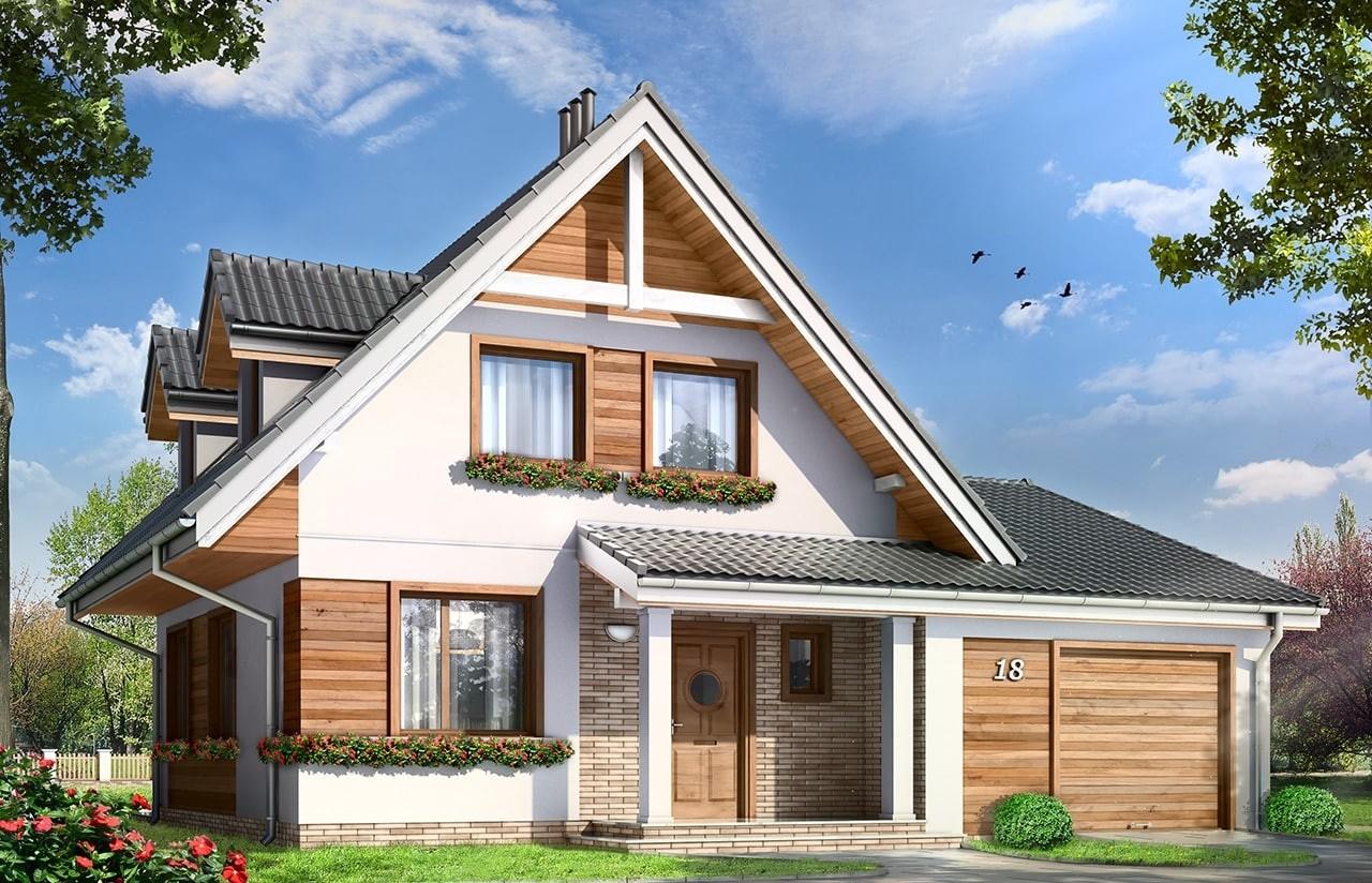 Projekt domu Amelia - wizualizacja frontowa