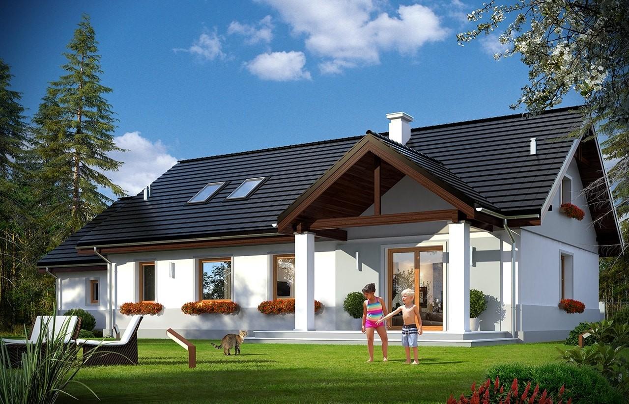 Projekt domu Anatol 2Projekt domu Anatol 2 - wizualizacja tylna