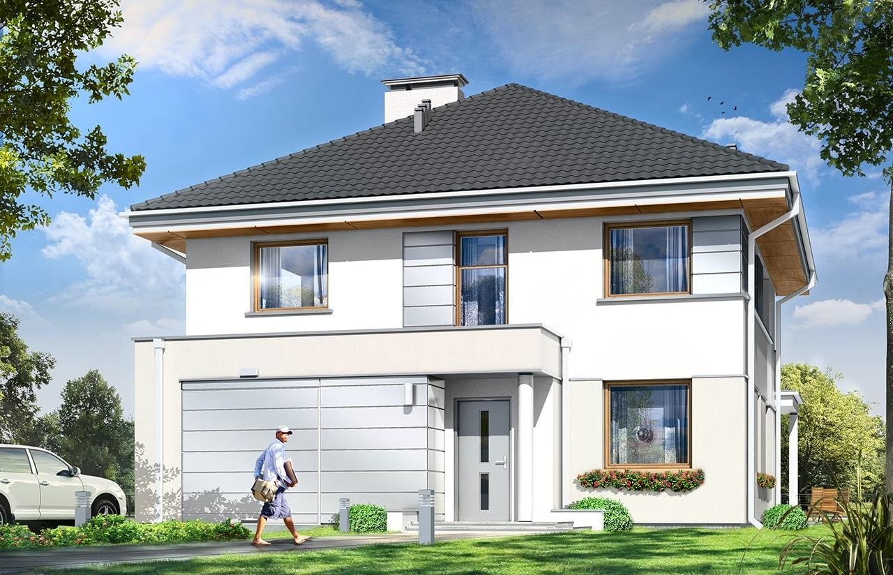 Projekt domu Artemida - wizualizacja frontowa