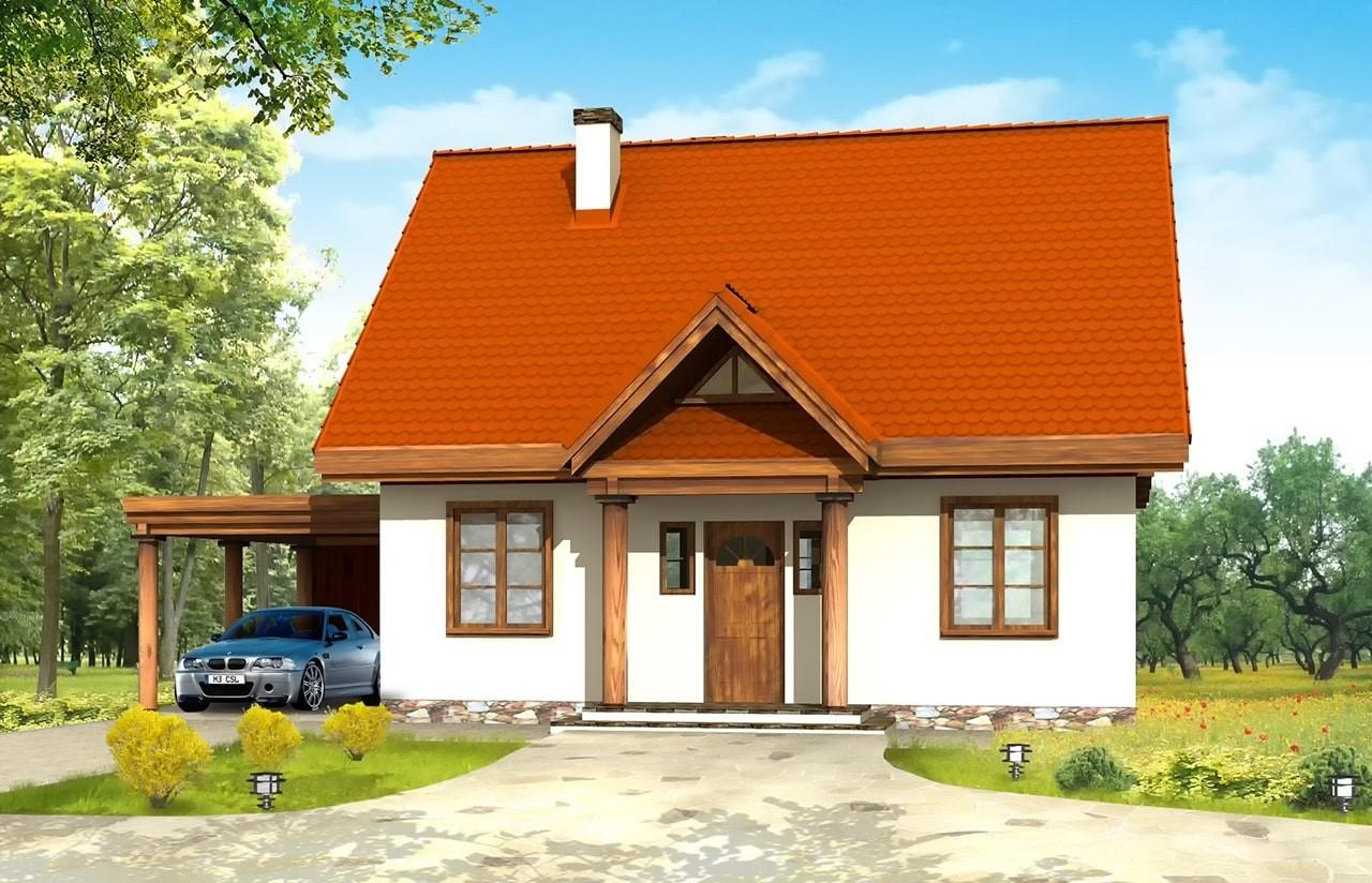 Projekt domu Bajkowy - wizualizacja frontowa