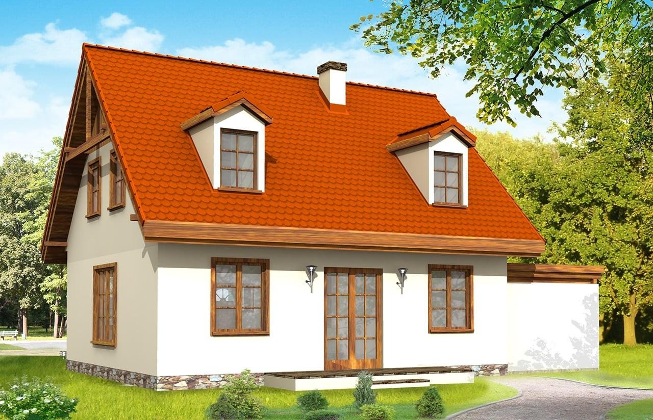 Projekt domu Bajkowy - wizualizacja tylna