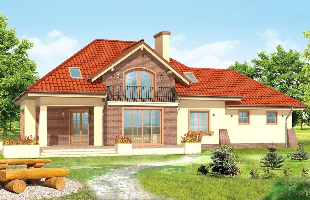 Projekt domu Benedykt 2 - wizualizacja tylna