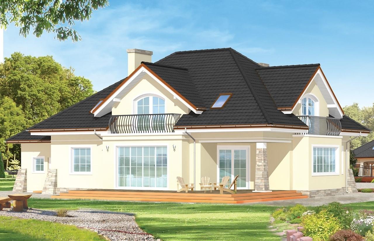 Projekt domu Benedykt 3 - wizualizacja tylna odbicie lustrzane