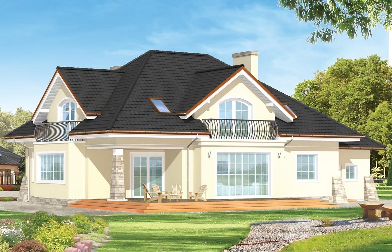 Projekt domu Benedykt 3 - wizualizacja tylna