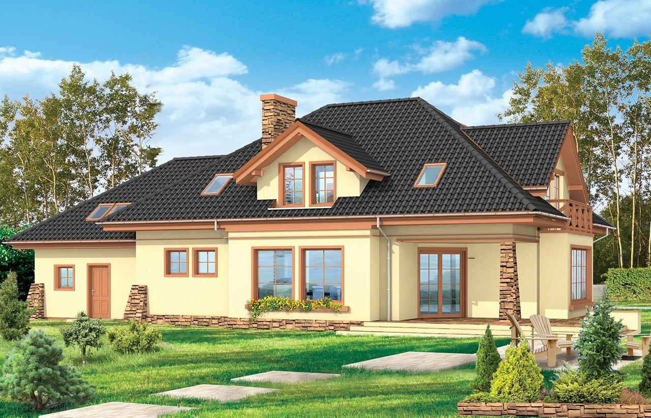Projekt domu Benedykt 4 - wizualizacja tylna