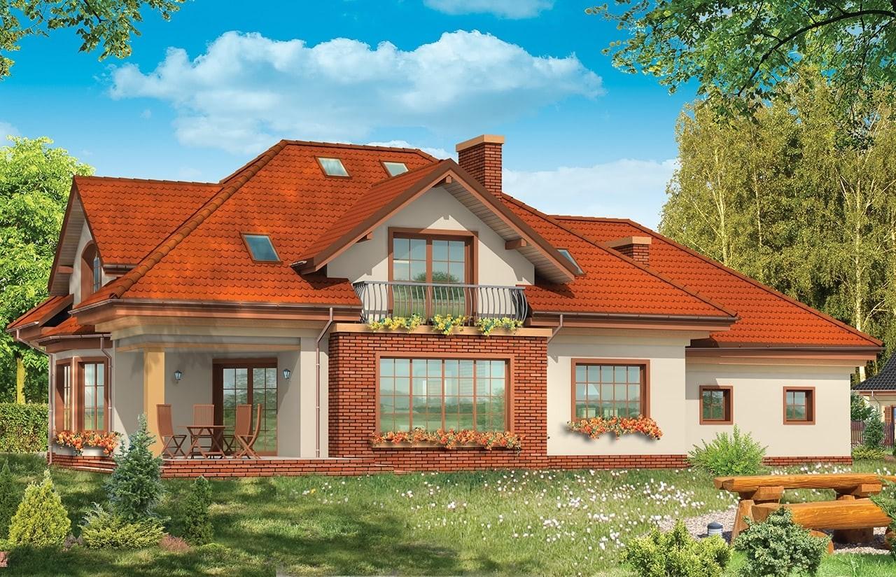 Projekt domu Benedykt 5 - wizualizacja tylna