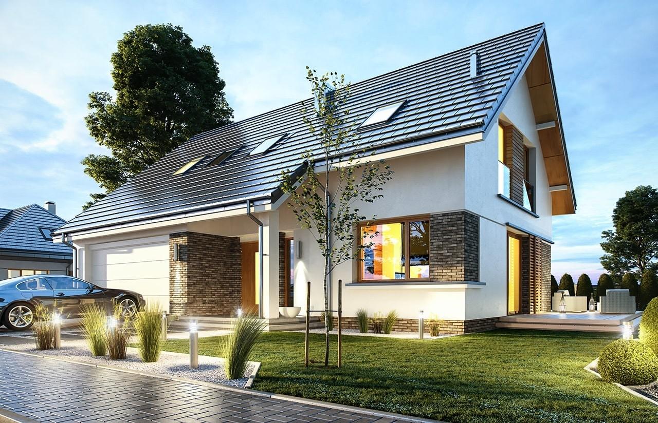 Projekt domu Biba  - wizualizacja frontu