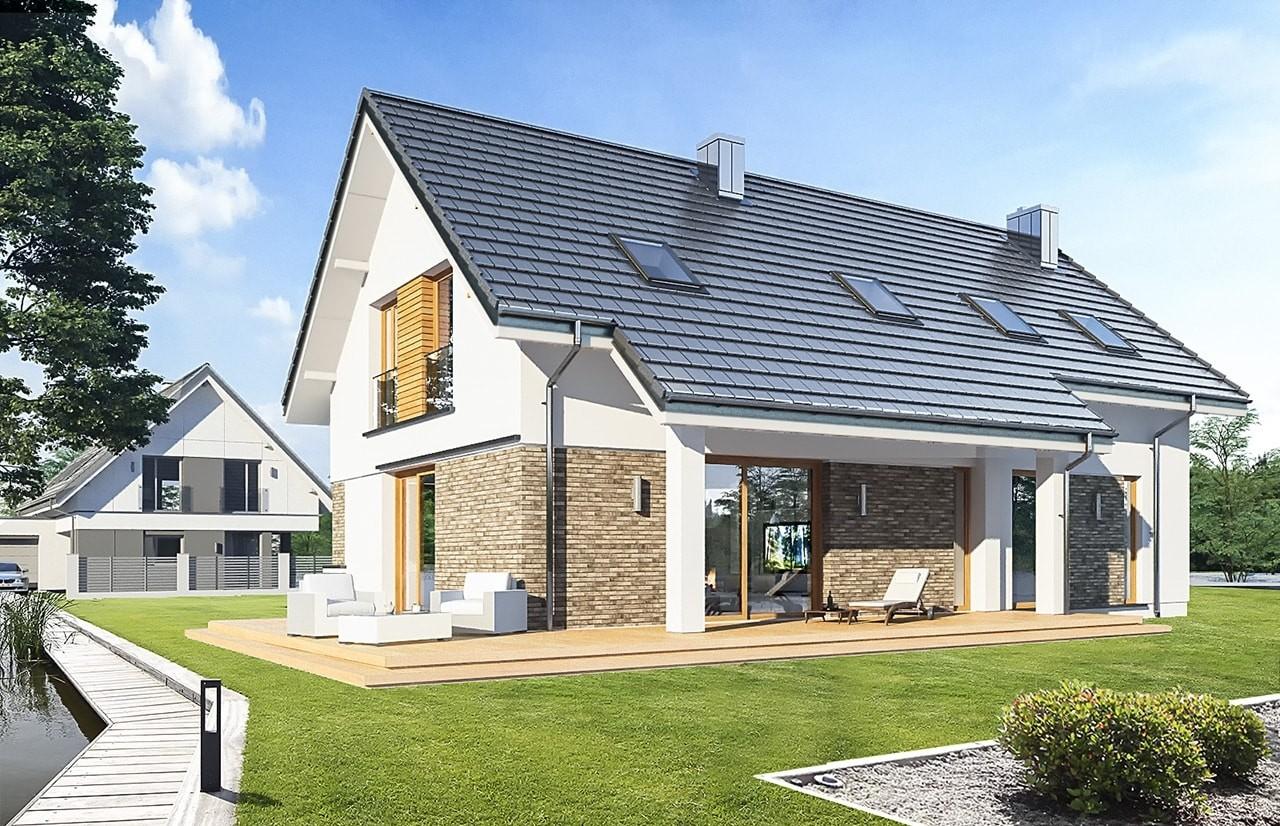Projekt domu Biba  - wizualizacja tylna
