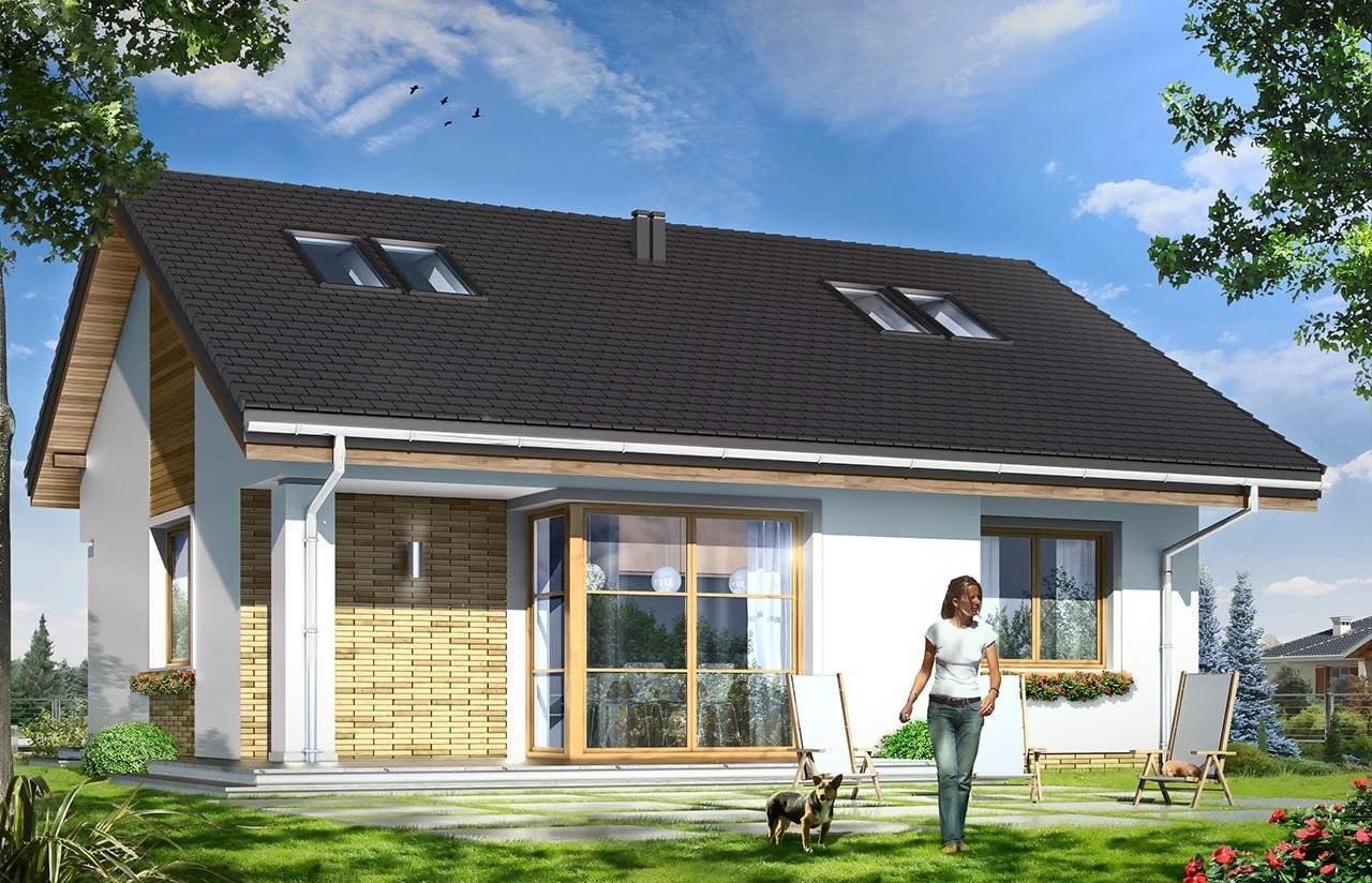 Projekt domu Bonifacy - wizualizacja tylna