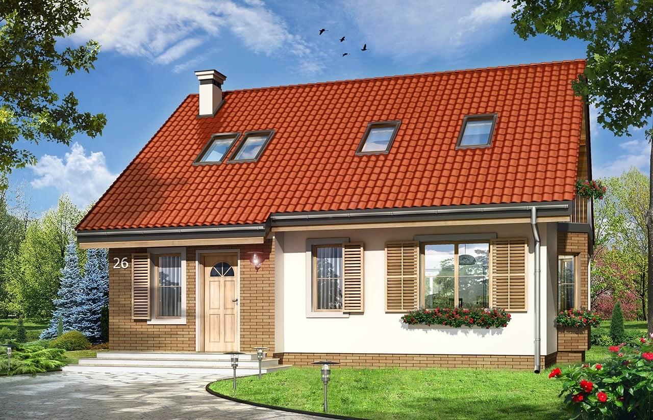 Projekt domu Bryza 3 - wizualizacja frontowa