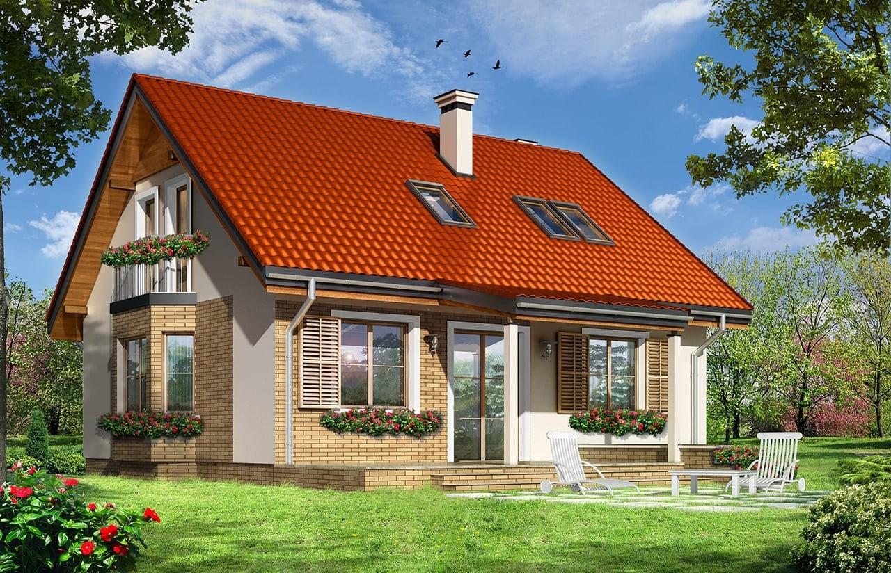 Projekt domu Bryza 3 - wizualizacja tylna