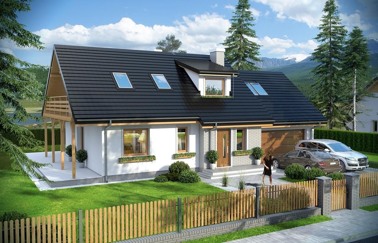 Projekt domu Bryza 4 odbicie lustrzane
