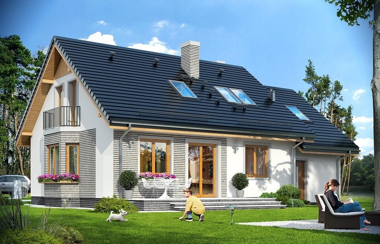 Projekt domu Bryza 5 (NF40) - wizualizacja tylna