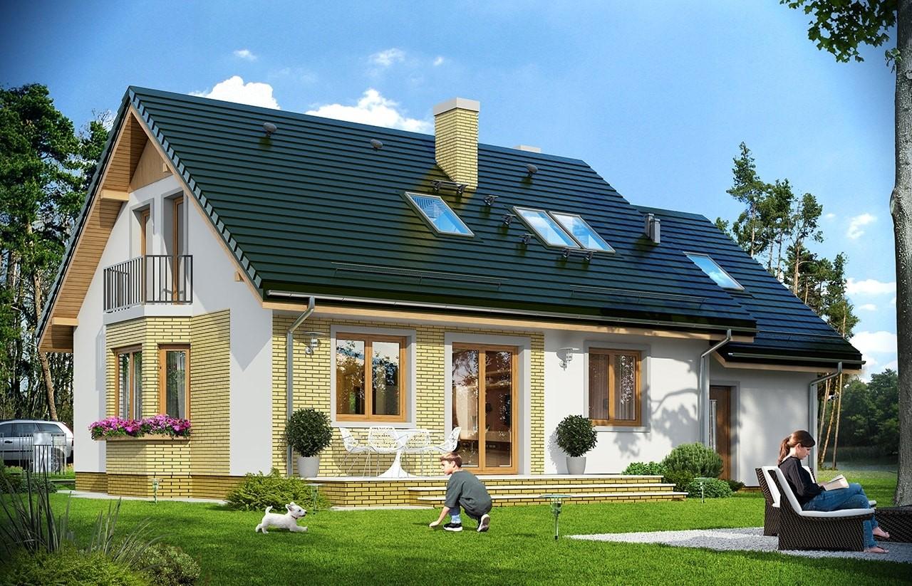 Projekt domu Bryza 6 (MDM) - wizualizacja tylna