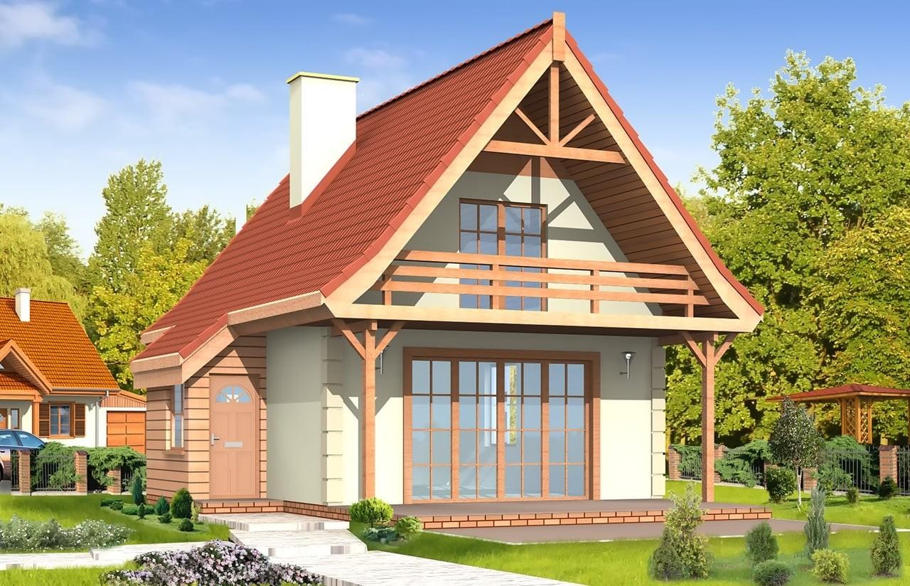 Projekt domu Chatka - wizualizacja frontowa