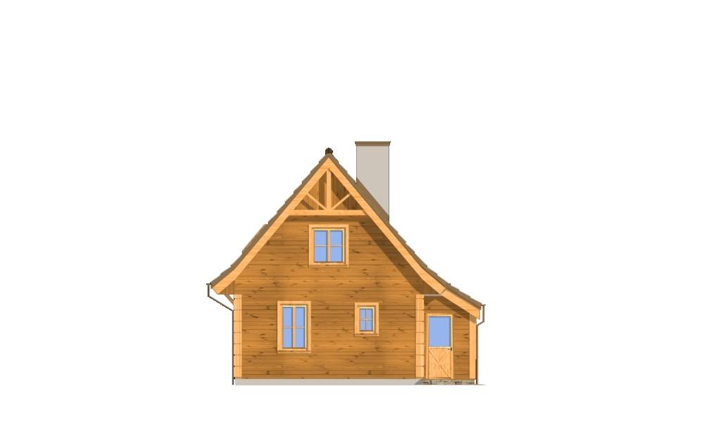 Chatka drewniana - elewacja tylna