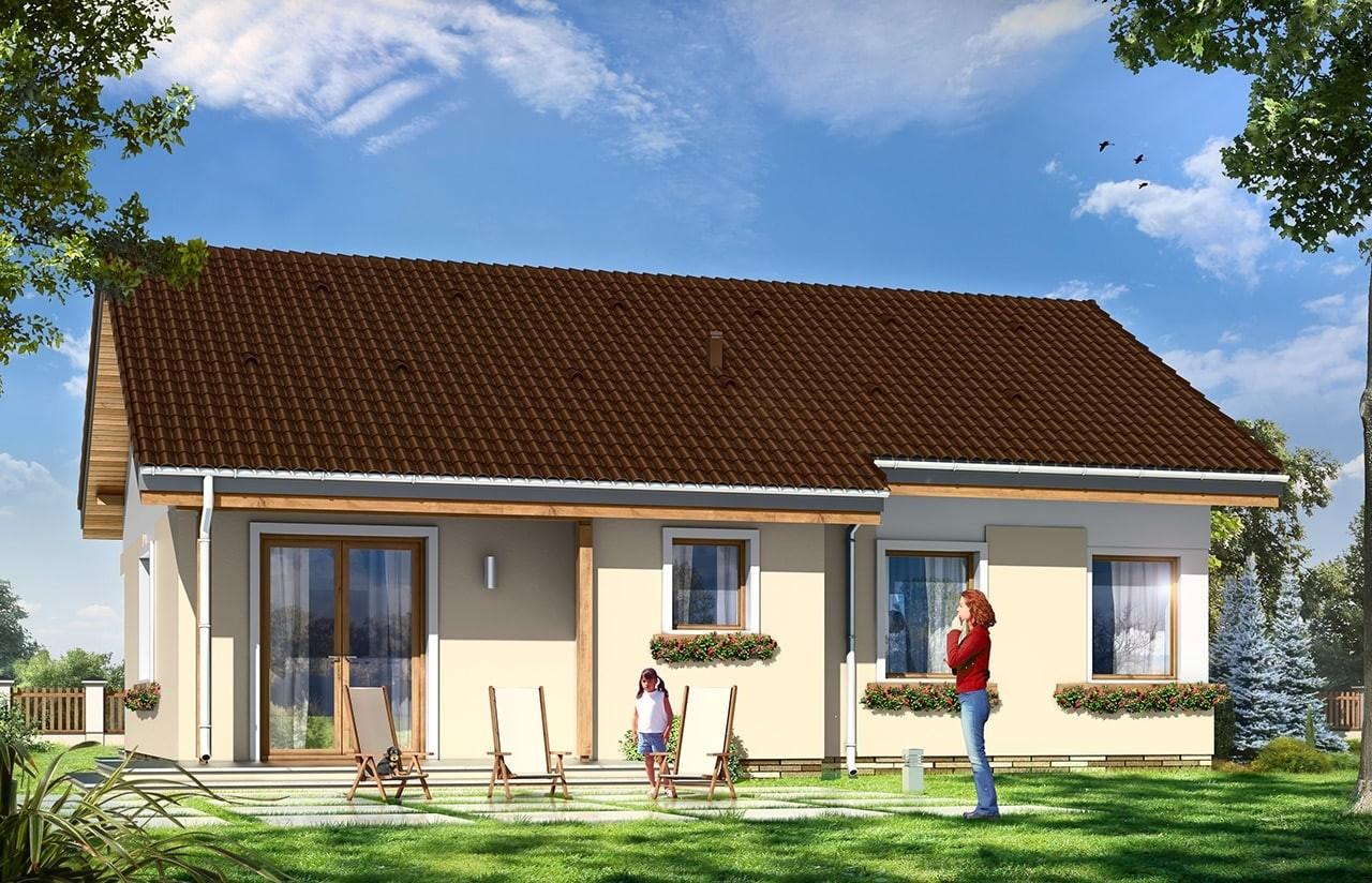 Projekt domu Cypisek 2 - wizualizacja tylna