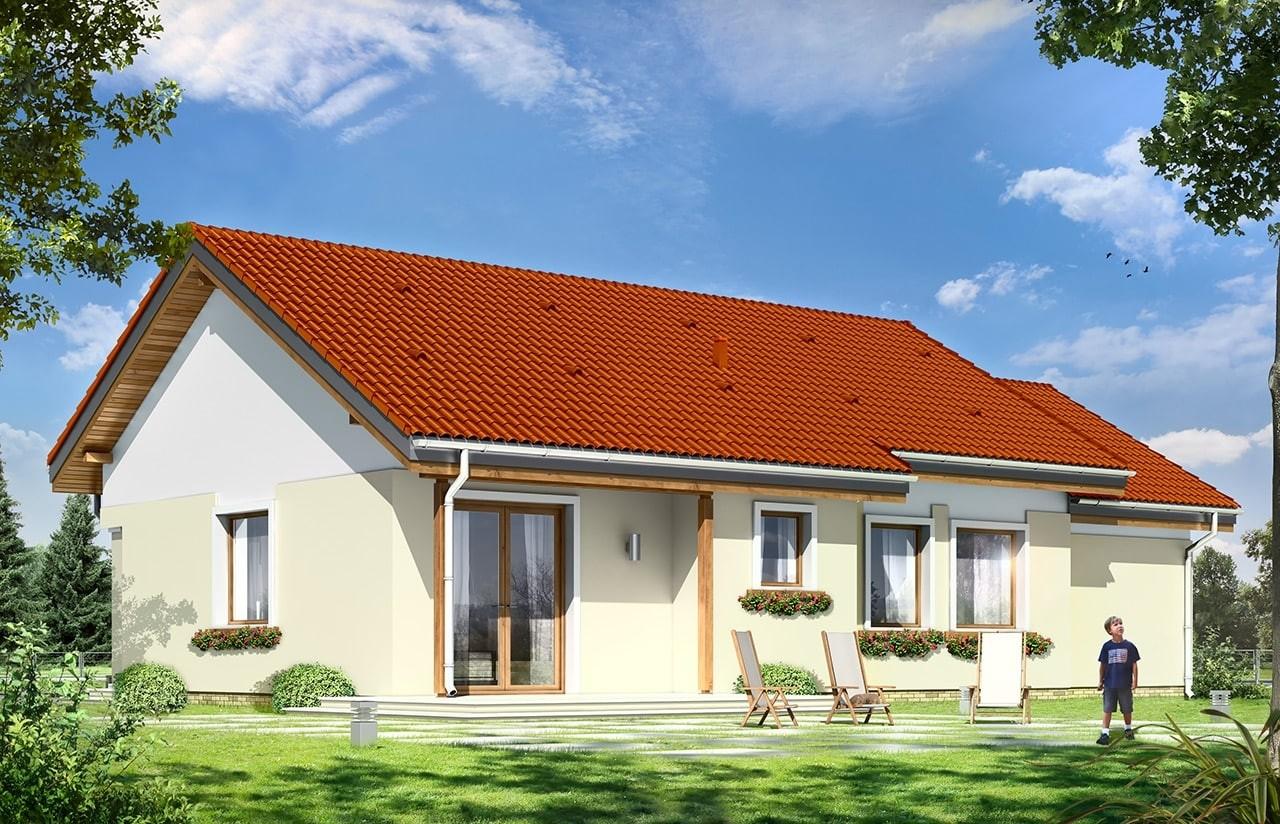 Projekt domu Cypisek 3 - wizualizacja tylna