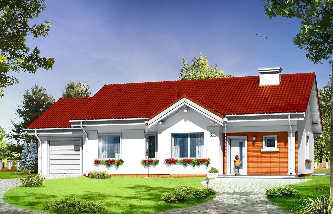 Projekt domu Cypisek 4 - wizualizacja frontowa