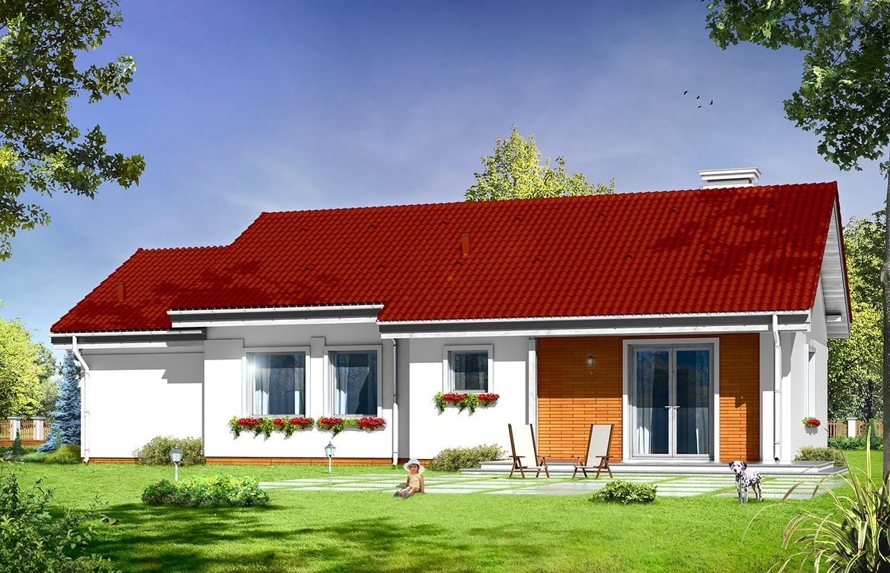 Projekt domu Cypisek 4 - wizualizacja tylna odbicie lustrzane
