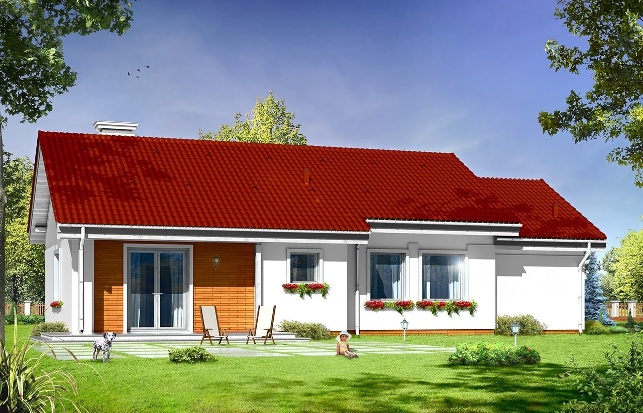 Projekt domu Cypisek 4 - wizualizacja tylna
