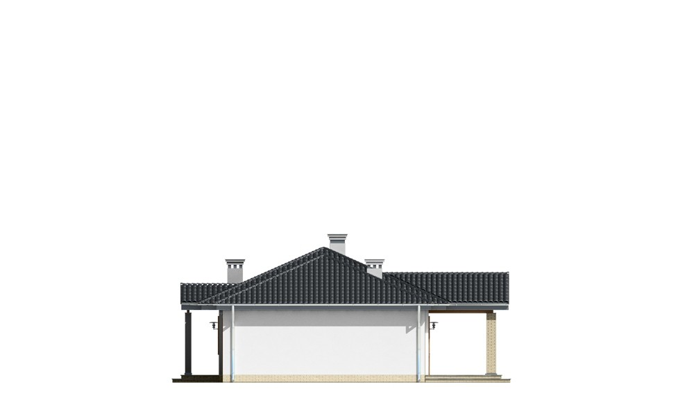 Czaruś - elewacja boczna odbicie lustrzane