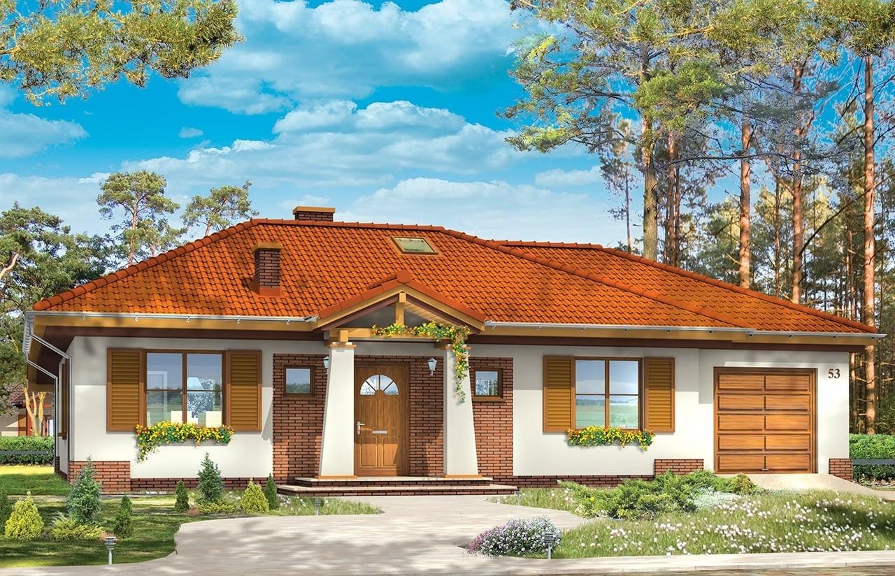 Projekt domu Cztery kąty 2 - wizualizacja frontowa