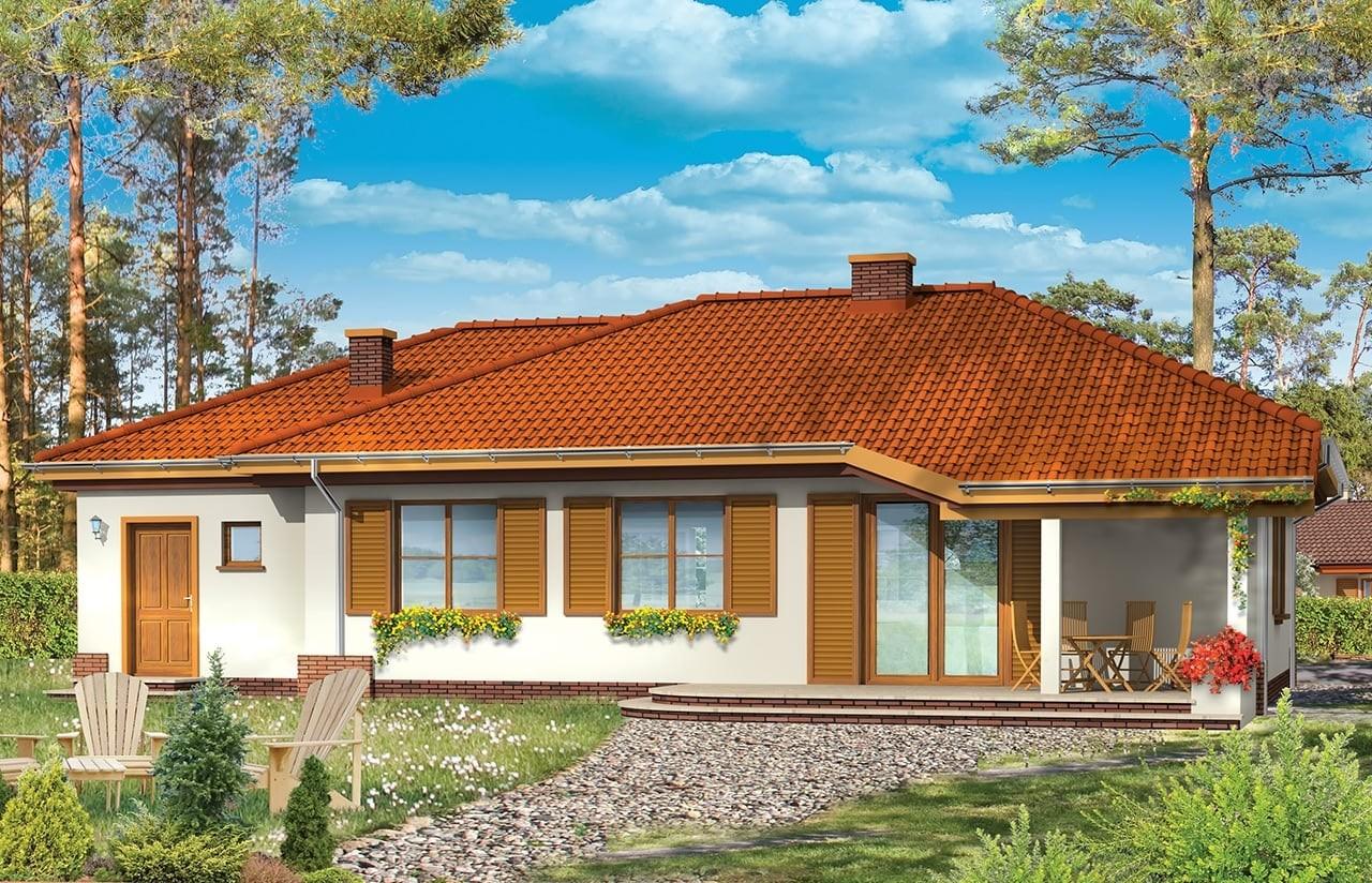 Projekt domu Cztery kąty 2 - wizualizacja tylna