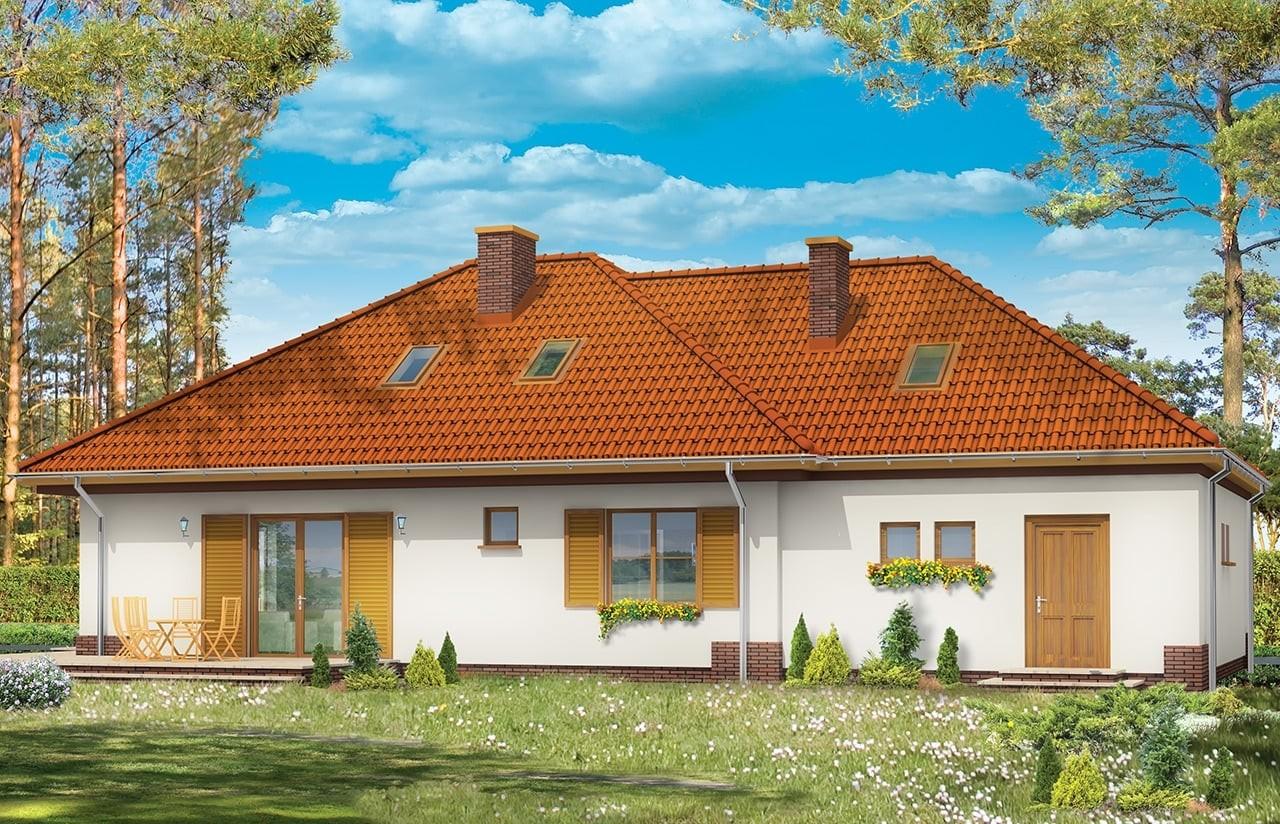 Projekt domu Cztery kąty 3 - wizualizacja tylna