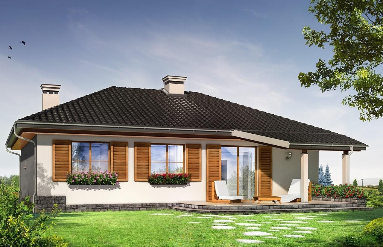 Projekt domu Cztery kąty 4 - wizualizacja tylna