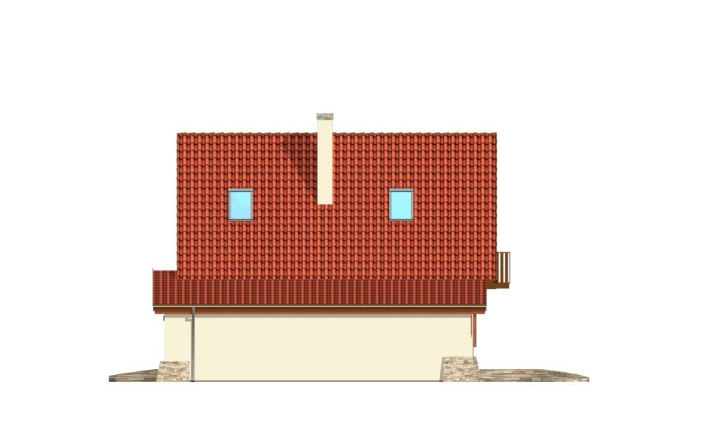D03 z garażem - elewacja boczna