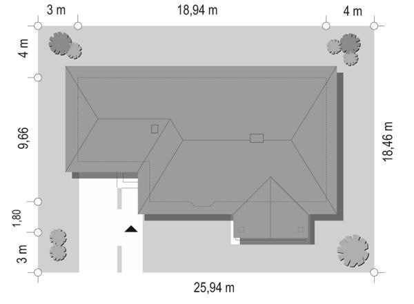 D05 z garażem - sytuacja