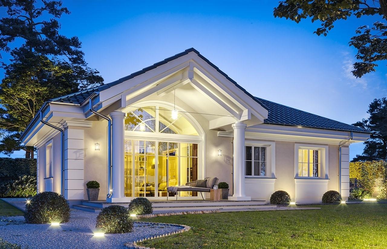 Projekt domu Dom na dębowej - wizualizacja tylna