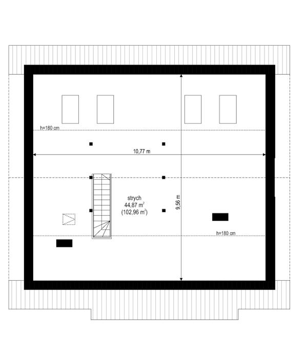Dom dla trojga - rzut strychu